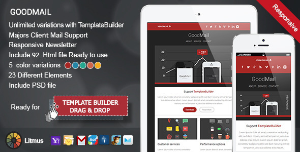 GoodMail - Responsive E-mail Template - Newsletters Email Templates
