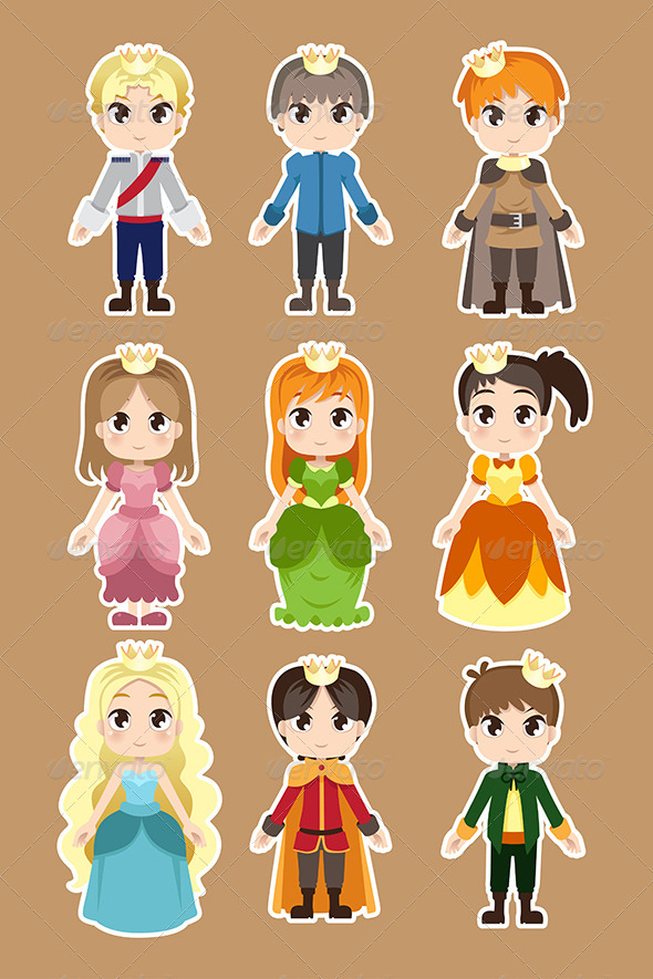 GraphicRiver Prince and Princess Characters 6385421