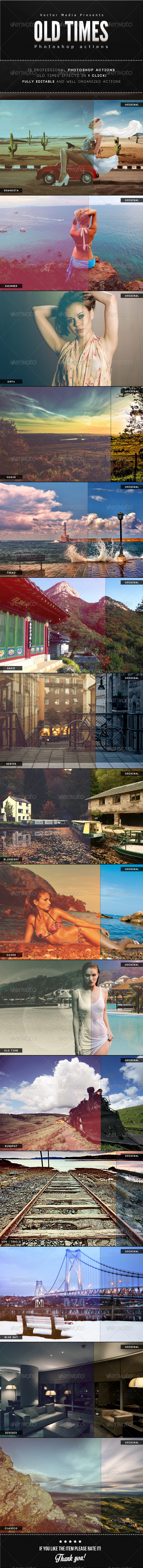 GraphicRiver Old Times Photoshop Actions 6385464