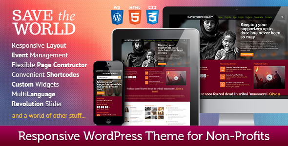 ThemeForest SaveTheWorld Environmental & Charity WP Theme 6358363