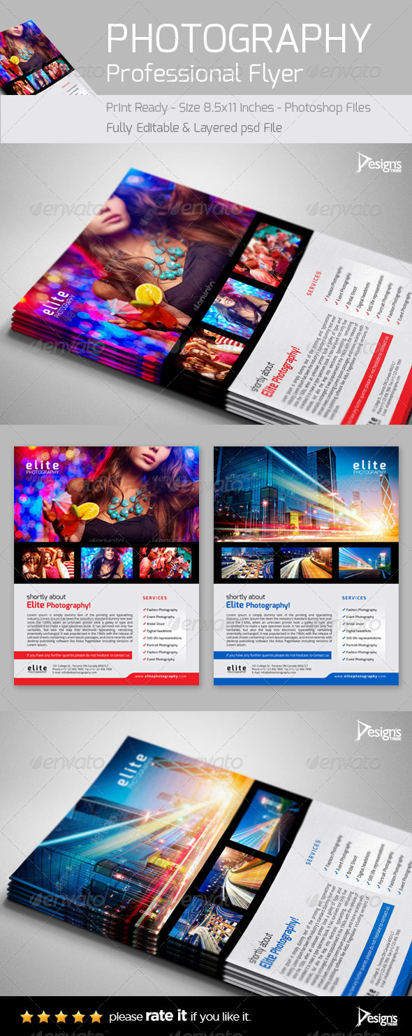 GraphicRiver Professional Photography Studio Flyer 6385621