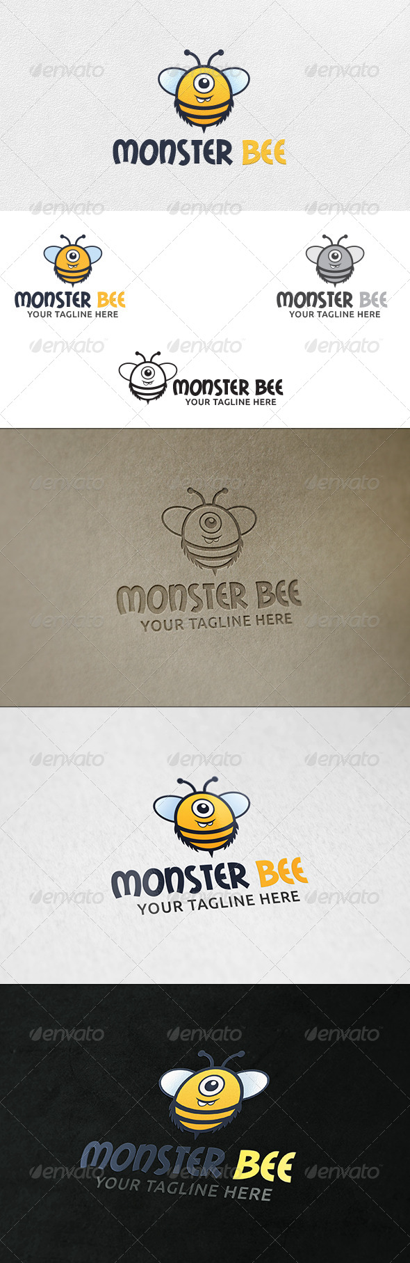 GraphicRiver Monster Bee Logo Template 6385821