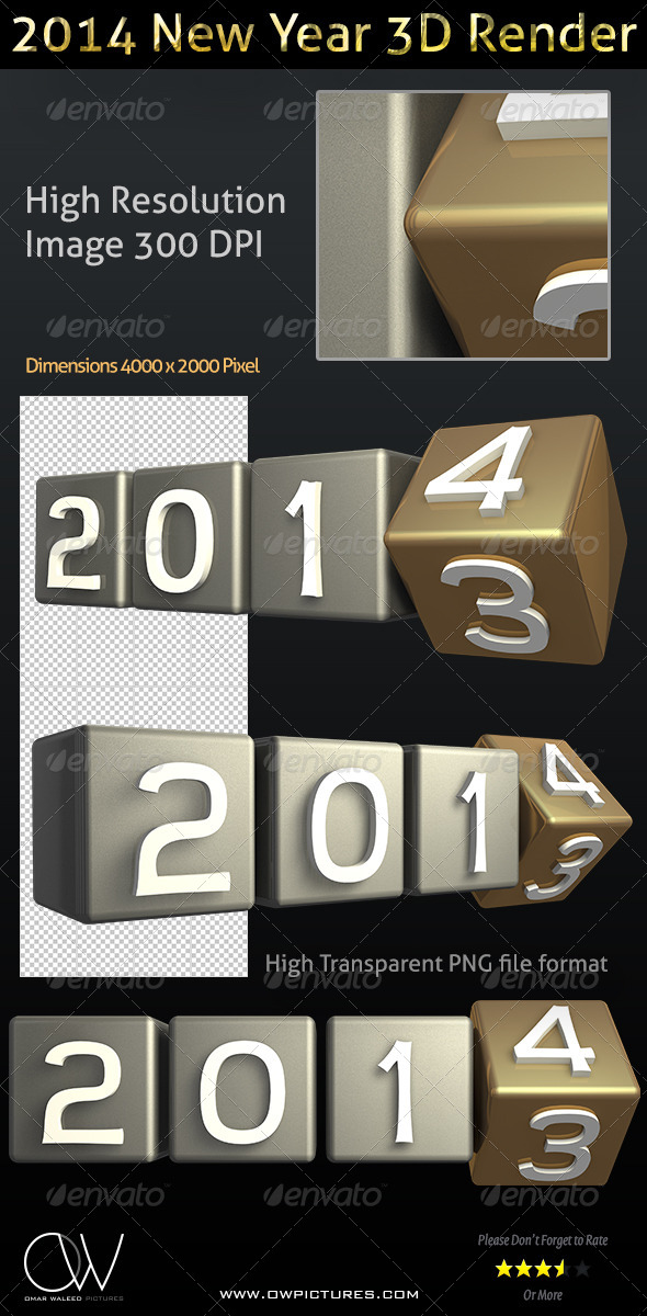 GraphicRiver Year 2014 3D Render Transparent 6385982