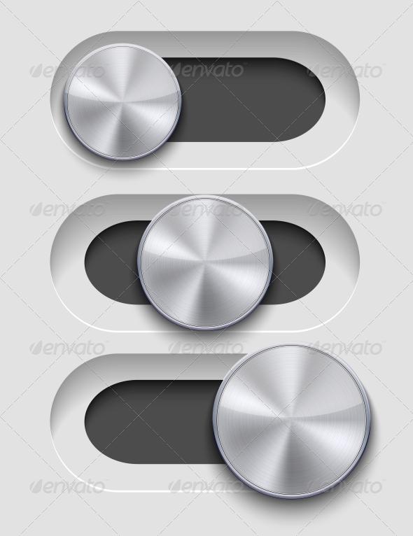GraphicRiver Vector UI Slider Set 6386069