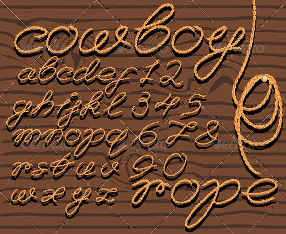 GraphicRiver Font Rope 666403
