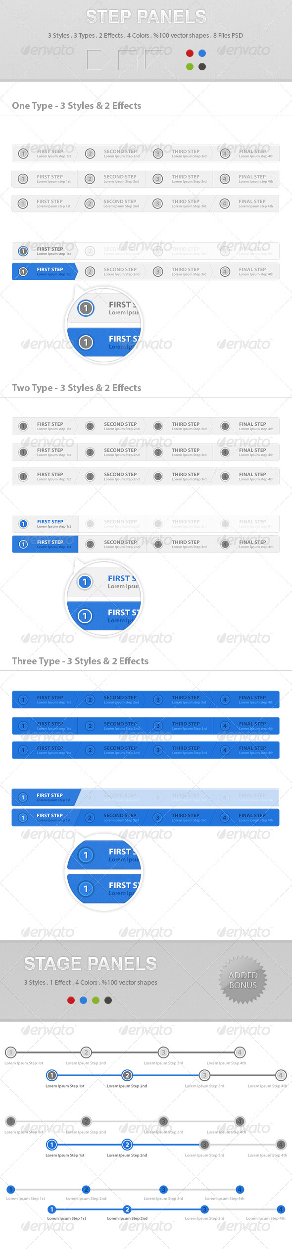 GraphicRiver Step & Stage Process Panels 6386171