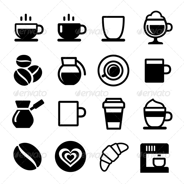 GraphicRiver Coffee Icon Set 6386183