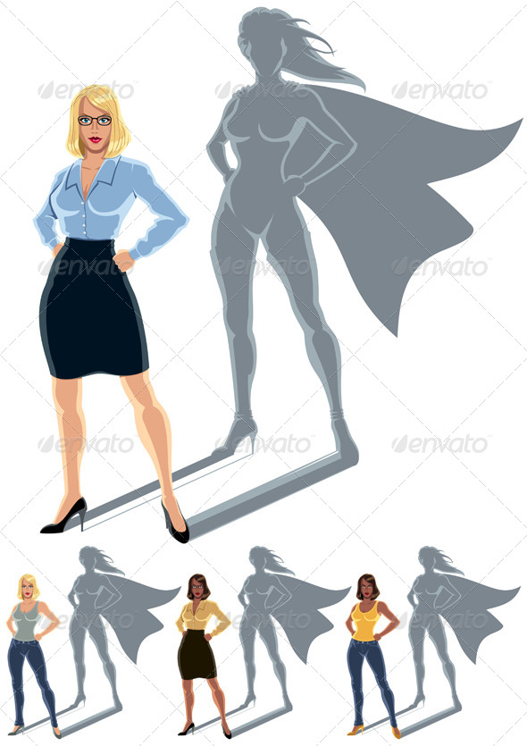 Woman Superhero Concept - Concepts Business