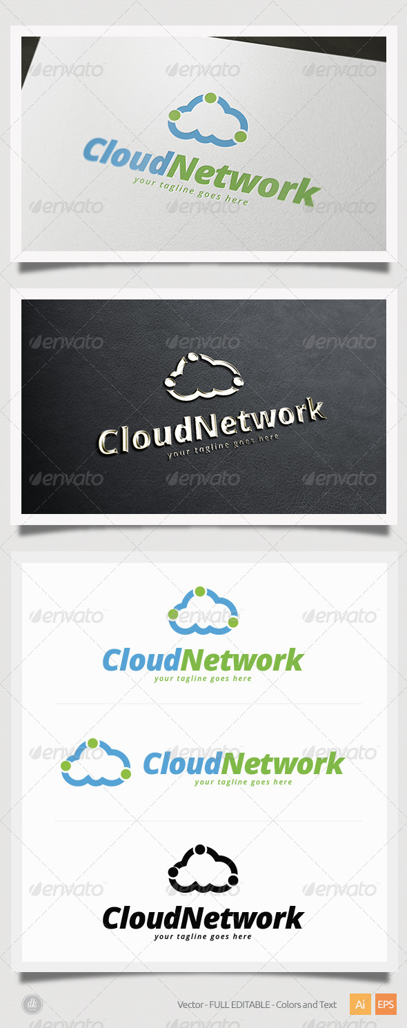 GraphicRiver Cloud Network Logo 6386270