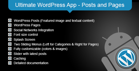 Ultimate WordPress App - Posts and Pages
