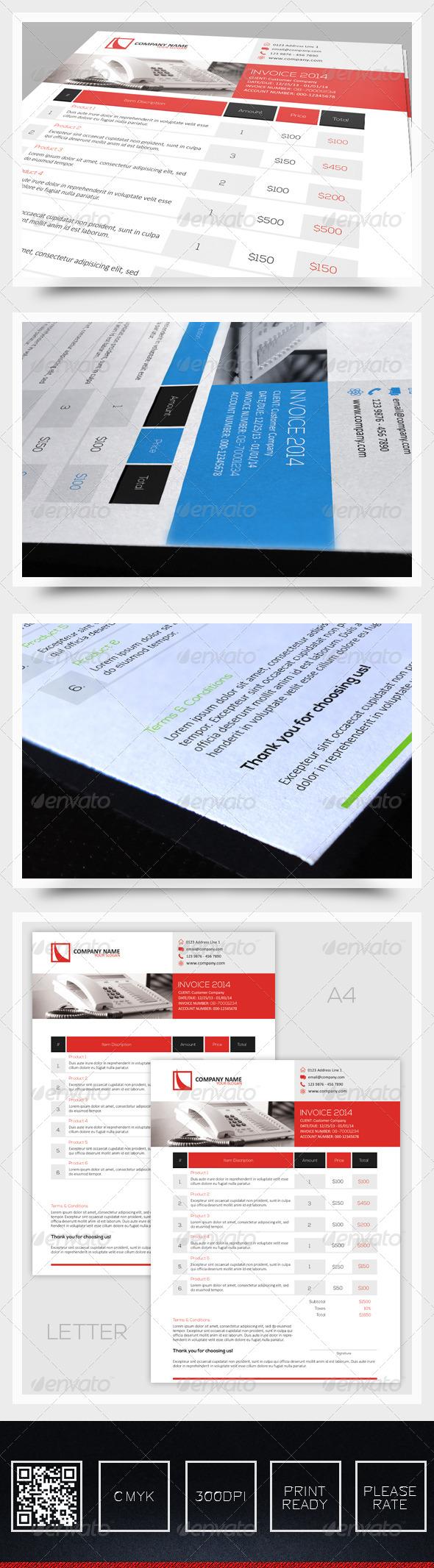 GraphicRiver Invoice Vol1 6386383