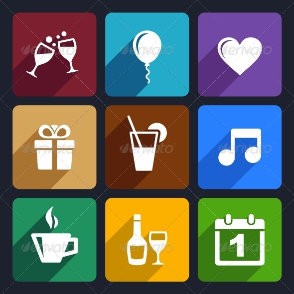 GraphicRiver Party and Celebration Icons Set 29 6386531