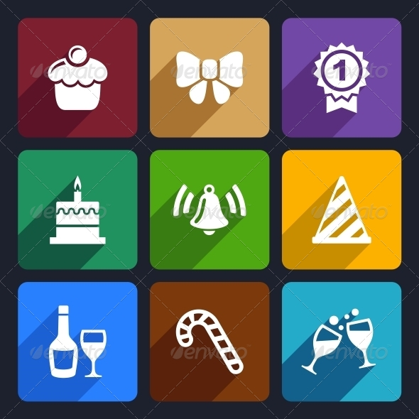 GraphicRiver Party and Celebration Icons Set 30 6386532