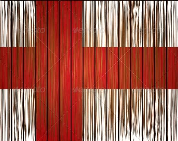 Vector Grunge England Flag
