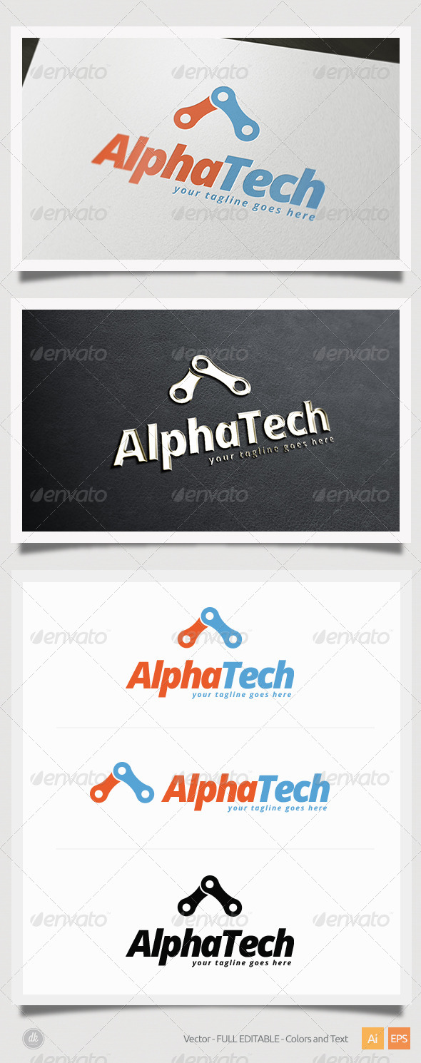 GraphicRiver Alpha Tech Logo 6386547