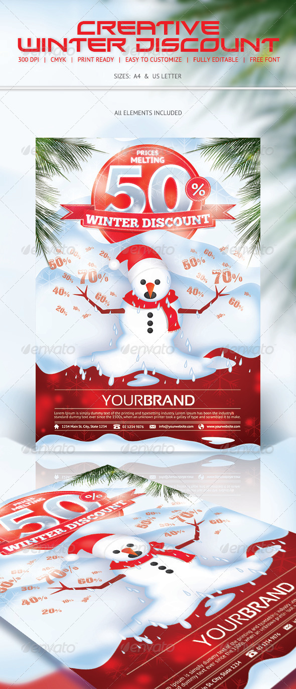 GraphicRiver Winter Discount Flyer 6386659