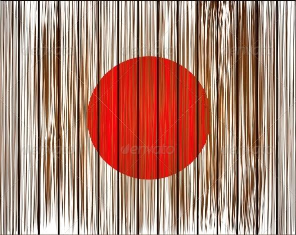GraphicRiver Vector Grunge Japan Flag 6386688