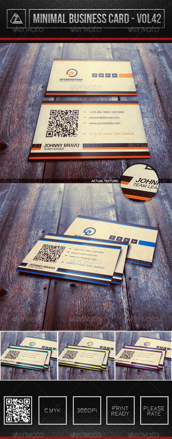 GraphicRiver IntenseArtisan Business Card Vol.42 6386697