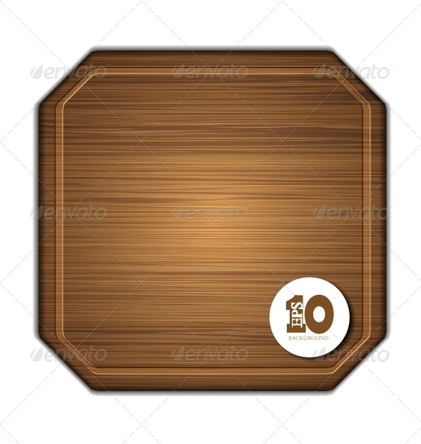 GraphicRiver Vector Wooden Cutting Board 6386784
