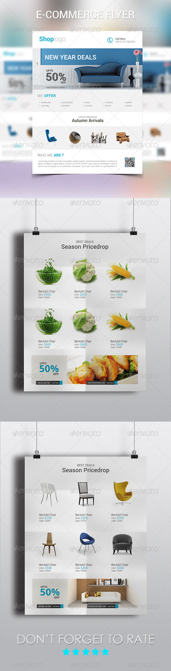 GraphicRiver New Year Deals E-Commerce Flyer 6386836