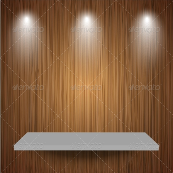 GraphicRiver Shelf on Wooden Background 6386875