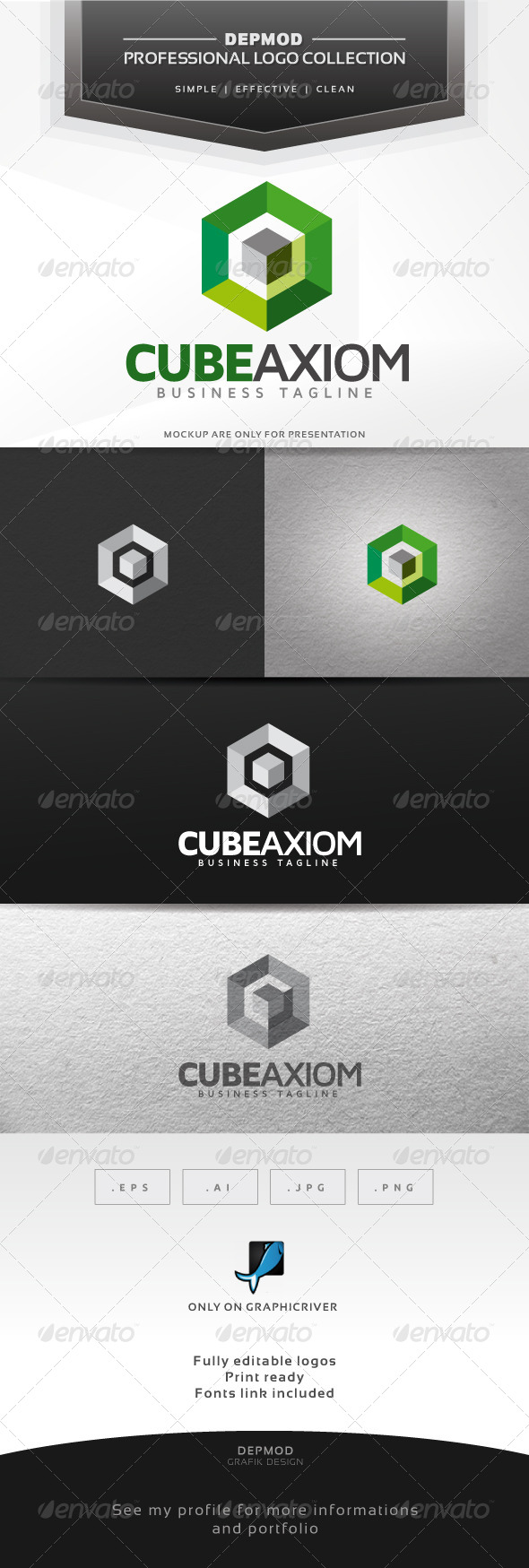 GraphicRiver Cube Axiom Logo 6387126