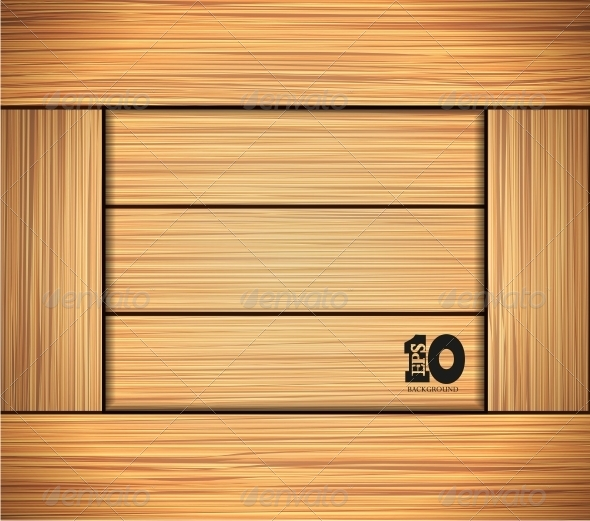 GraphicRiver Vector Wooden Background 6387231