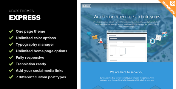 ThemeForest Express Responsive One Page WordPress Theme 6387400