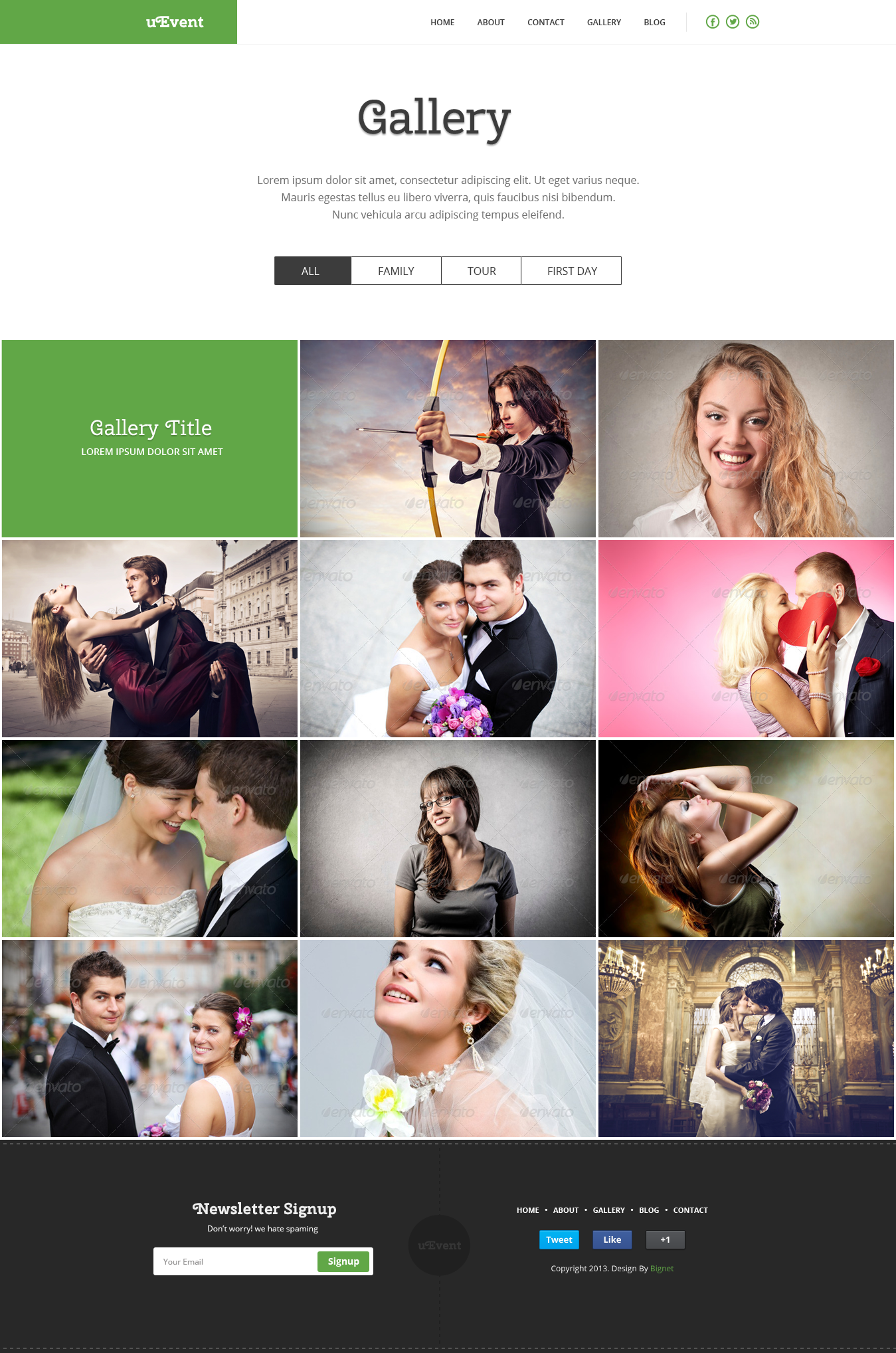 uEvent - Event & Wedding Template
