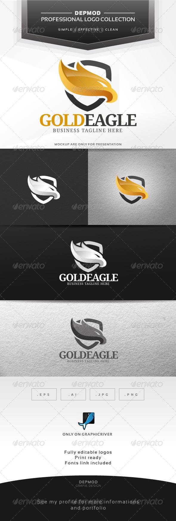 GraphicRiver Gold Eagle Logo 6387525