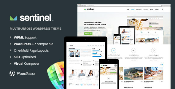 1.  large preview Sentinel   Responsive Multi Purpose Theme (Business)
