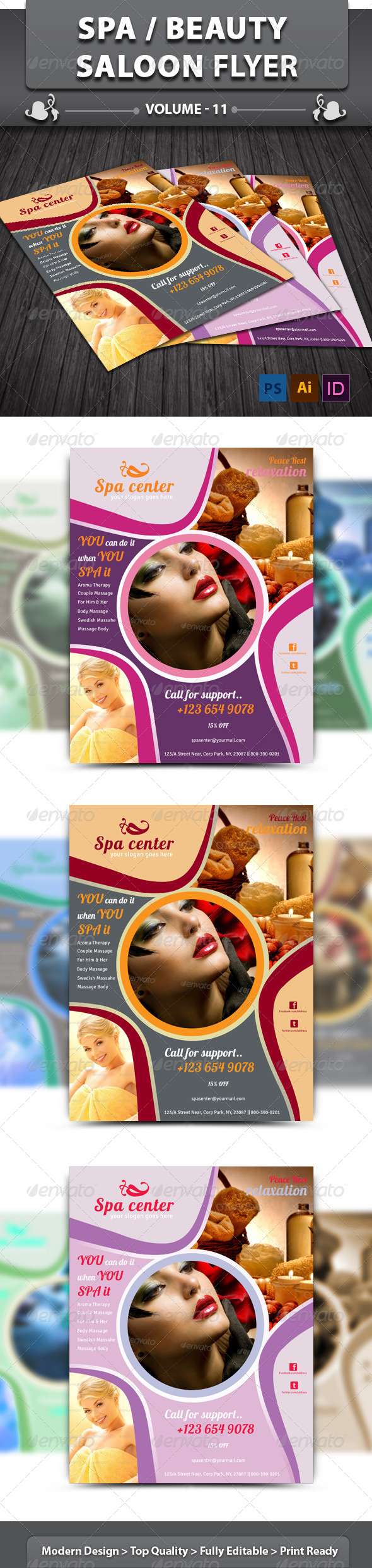 GraphicRiver Spa Beauty Saloon Flyer v11 6387615