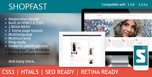 Shopfast Multipurpose Retina Opencart Theme  - Fashion OpenCart