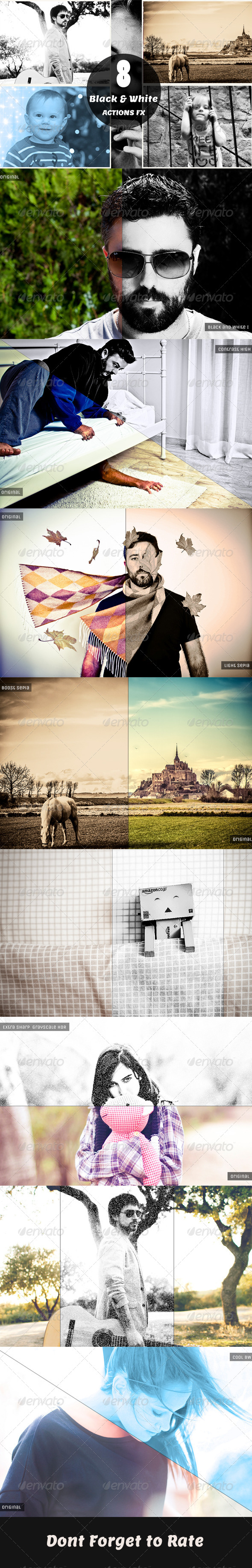 GraphicRiver B&W Actions FX 6387641