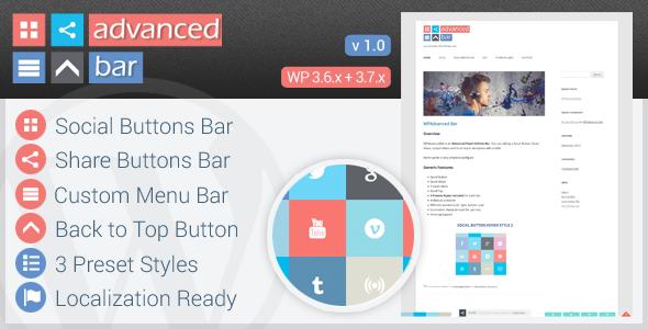 CodeCanyon WPAdvanced Bar Advanced Fixed Utilities Bar 6387660