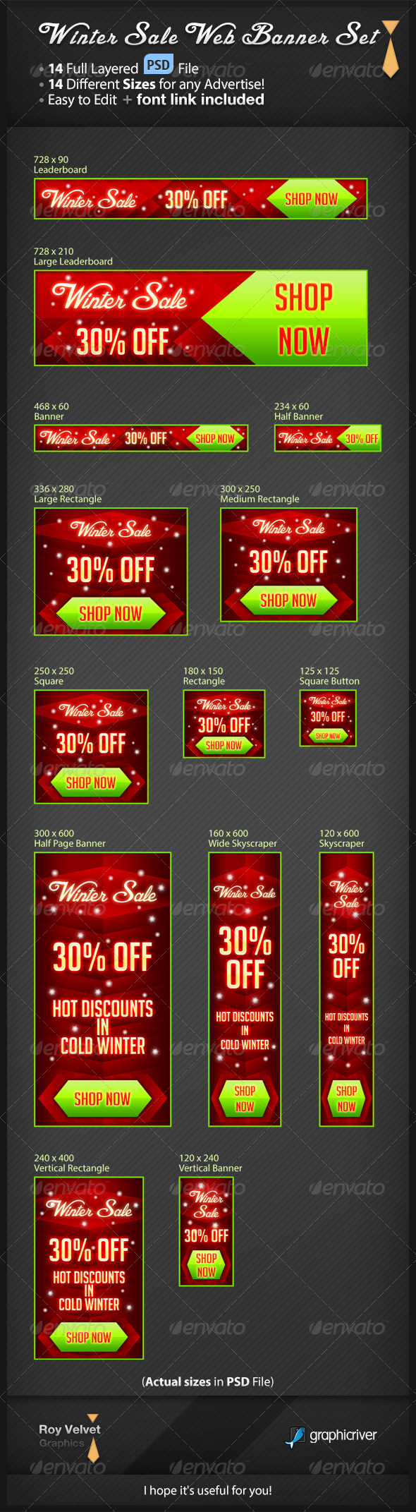 GraphicRiver Winter Sale Web Banner Set 6374323
