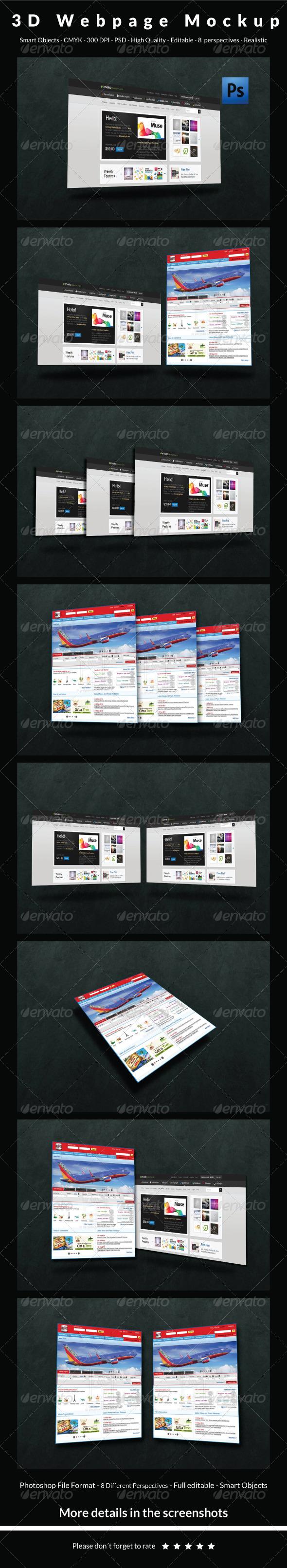 GraphicRiver 3D Webpage Mockup 6387713