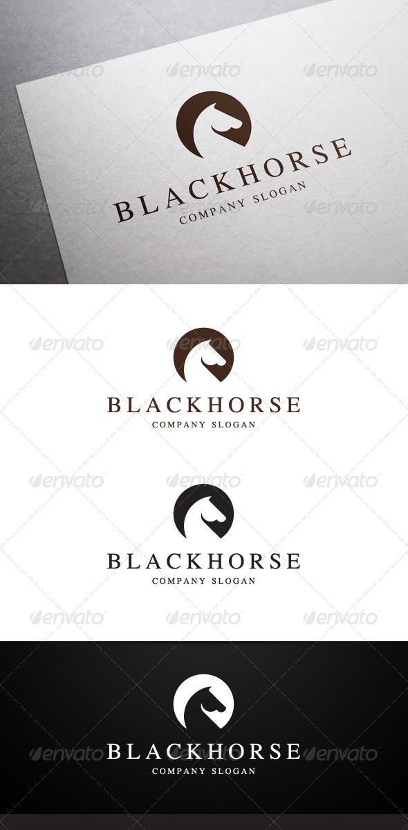 GraphicRiver Black Horse Logo 6387770