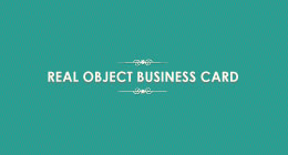 Real Object Business Card