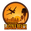 Welcome to Laguna Beach label - PhotoDune Item for Sale