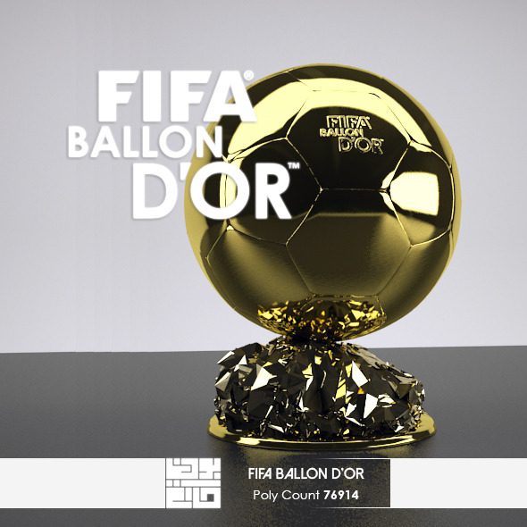 The FIFA Ballon d'Or - 3DOcean Item for Sale
