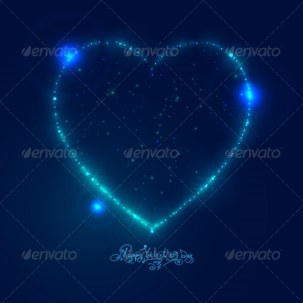 GraphicRiver Love Heart Background from Bright Stars 6389055