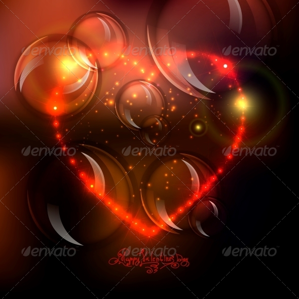 GraphicRiver Love Heart Background from Bright Stars 6389061