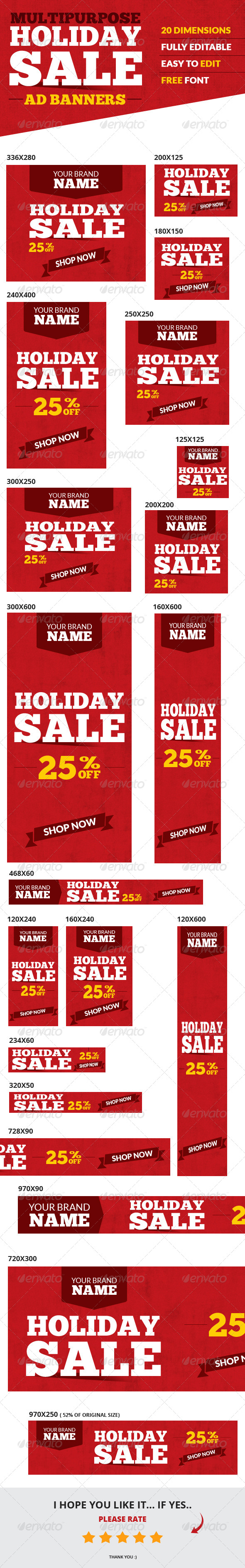GraphicRiver Holiday Sale Web Ad Banners Multipurpose 6389149