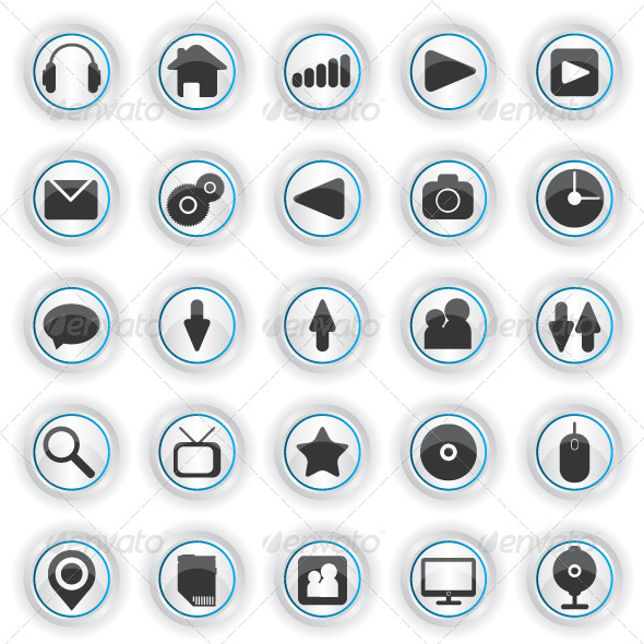 GraphicRiver Set of Web Icons 6389399
