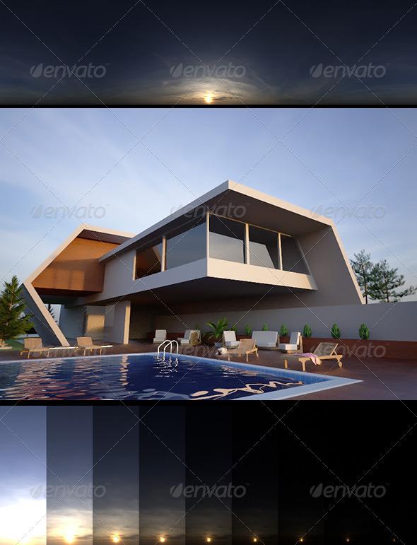 3DOcean Realsky HDRI Sunset 1808 6389548