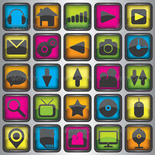 GraphicRiver Set of Color Web Icons 6389558