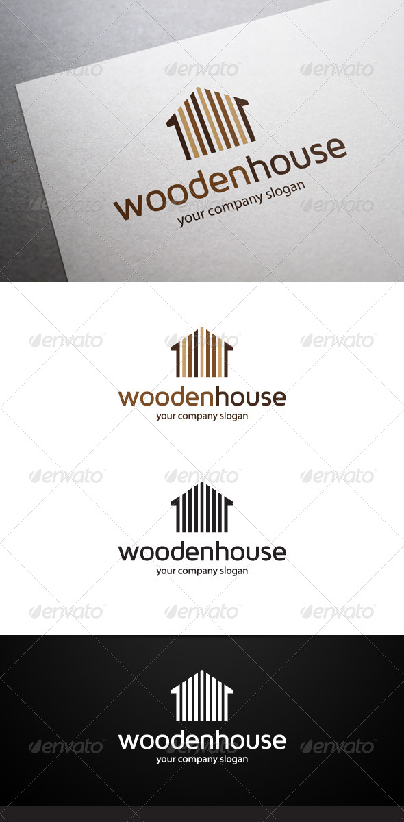 GraphicRiver Wooden House Logo 6389687