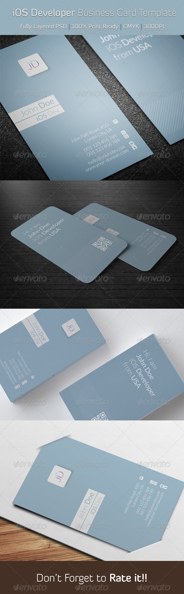 GraphicRiver iOS Developer Business Card Template 6389702
