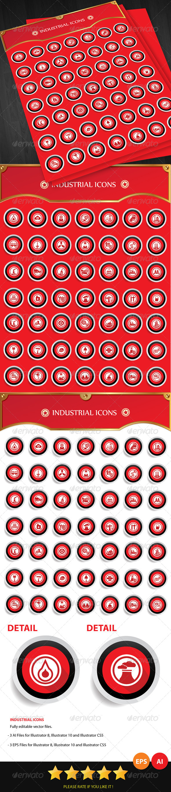 GraphicRiver Industrial Icons 6389844